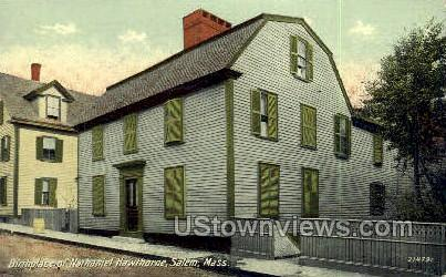Birthplace of Nathaniel Hawthorne - Salem, Massachusetts MA Postcard