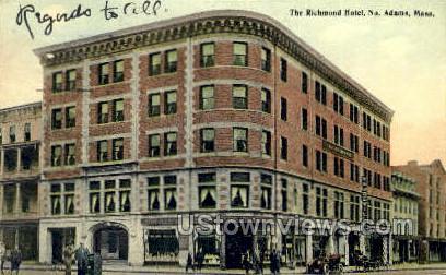 Richmond Hotel - North Adams, Massachusetts MA Postcard