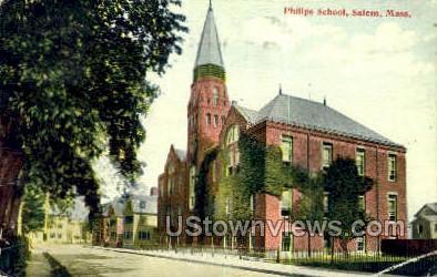 Philips School - Salem, Massachusetts MA Postcard