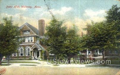 Dana Hall - Wellesley, Massachusetts MA Postcard
