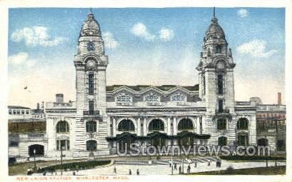 New Union Station - Worcester, Massachusetts MA Postcard