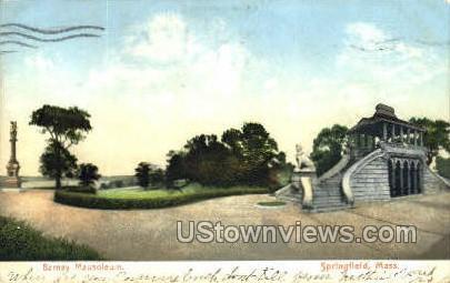 Barnay Mausoleum - Springfield, Massachusetts MA Postcard