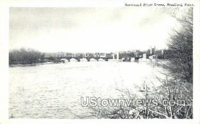 Merrimack River - Bradford, Massachusetts MA Postcard