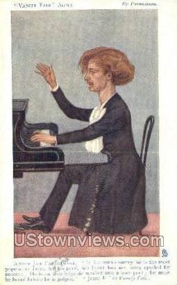 Ignace Jan Paderewski, Pole, Poet - Misc, Massachusetts MA Postcard