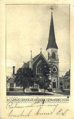 St John's Catholic Church - Attleboro, Massachusetts MA Postcard