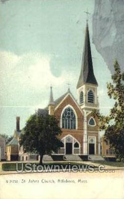 St Johns Church - Attleboro, Massachusetts MA Postcard