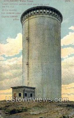 Attleboro Water Tower - Massachusetts MA Postcard
