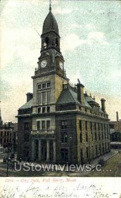 City Hall - Fall River, Massachusetts MA Postcard