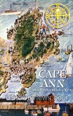 Cape Ann, Massachusetts     ;     Cape Ann, MA Postcard