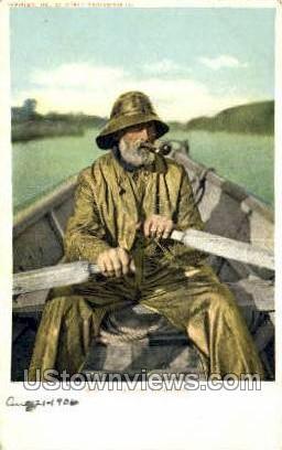 Fisherman - Cape Ann, Massachusetts MA Postcard