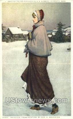 Priscilla - Misc, Massachusetts MA Postcard