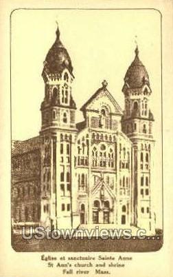 St Ann's Church & Shrine - Fall River, Massachusetts MA Postcard