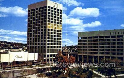 Worcester Center - Massachusetts MA Postcard