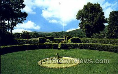Formal Gardens, Tanglewood - Lenox, Massachusetts MA Postcard