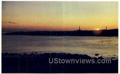 Twin Lights, Loblolly Cove - Rockport, Massachusetts MA Postcard