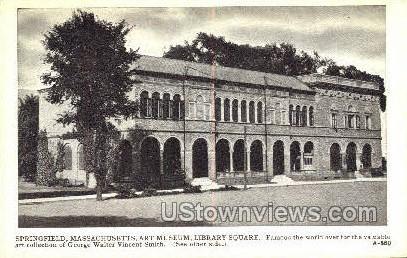 Art Museum, Library Square - Springfield, Massachusetts MA Postcard