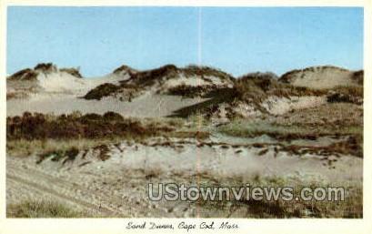 Sand Dunes - Cape Cod, Massachusetts MA Postcard
