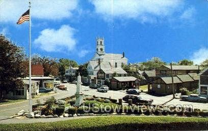 Seaview St & Main St - Cape Cod, Massachusetts MA Postcard