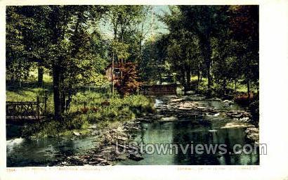 Brook, Mt Holyoke College - South Hadley, Massachusetts MA Postcard