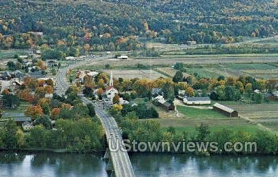 Fall Foliage, Connecticut River - Sunderland, Massachusetts MA Postcard