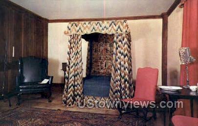 Bedroom, Sheldon Hawks House - Deerfield, Massachusetts MA Postcard