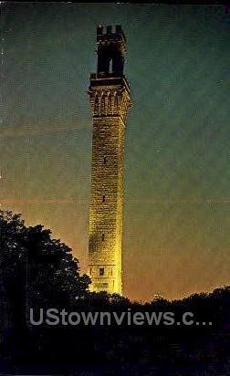 Pilgrim Monument - Cape Cod, Massachusetts MA Postcard