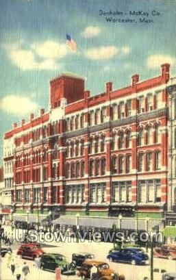 Denholm McKay Co - Worcester, Massachusetts MA Postcard