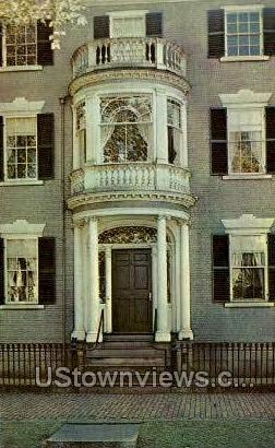 Chestnut Street Doorway - Salem, Massachusetts MA Postcard