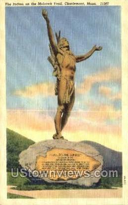Indian, Mohawk Trail - Charlemont, Massachusetts MA Postcard