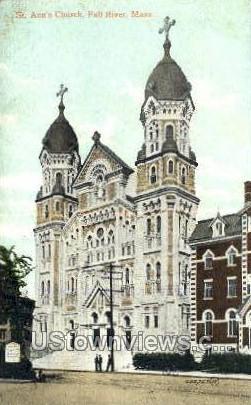 St. Ann's Church - Fall River, Massachusetts MA Postcard
