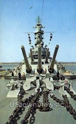 USS Mass. - Fall River, Massachusetts MA Postcard