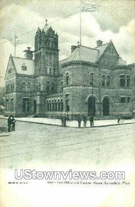 Post Office - Springfield, Massachusetts MA Postcard