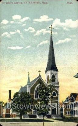 St. John's Church - Attleboro, Massachusetts MA Postcard