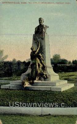 McKinley Monument - Springfield, Massachusetts MA Postcard