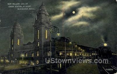 New Million Dollar Union Station - Worcester, Massachusetts MA Postcard