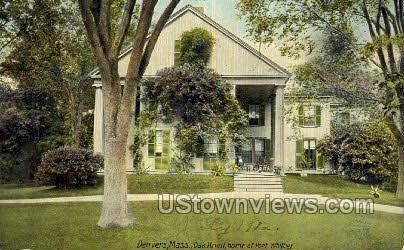 Oak Knoll, Poet Whittier - Danvers, Massachusetts MA Postcard