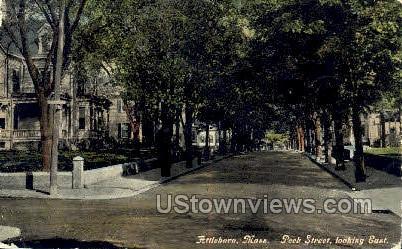 Peek Street - Attleboro, Massachusetts MA Postcard