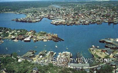Glouester Harbor, Rock Neck - Cape Ann, Massachusetts MA Postcard