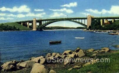 A Piatt Andrews memorial Bridge - Gloucester, Massachusetts MA Postcard