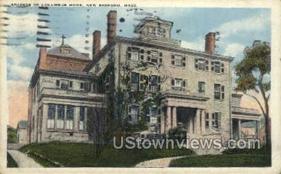 Knights of Columbus Home - New Bedford, Massachusetts MA Postcard