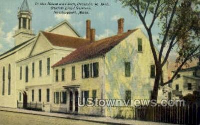 Born Dec 10, 1805 William Lloyd Garrison - Newburyport, Massachusetts MA Postcard