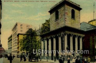 King's Chapel - Boston, Massachusetts MA Postcard