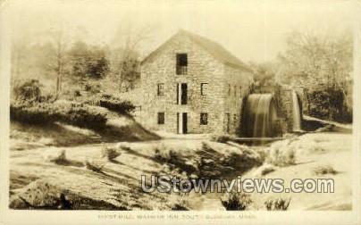 Real Photo - Grist Mill, Wayside Inn - South Sudbury, Massachusetts MA Postcard