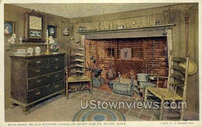 Old Kitchen, House of Seven Gables - Salem, Massachusetts MA Postcard