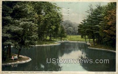 Mirror Lake, Forest Park - Springfield, Massachusetts MA Postcard