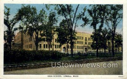 High School, Lowell - Massachusetts MA Postcard