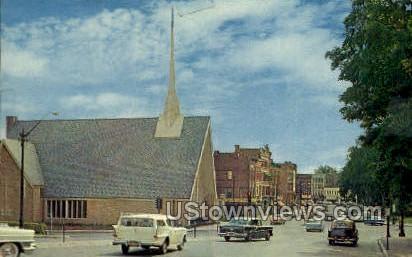 Main Street - Northampton, Massachusetts MA Postcard