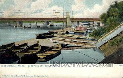 Shipping - Springfield, Massachusetts MA Postcard