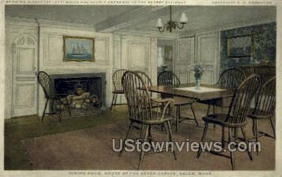 Dining Room, House of the Seven Gables - Salem, Massachusetts MA Postcard