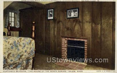 Clifford's Bedroom, House of the Seven Gables - Salem, Massachusetts MA Postcard